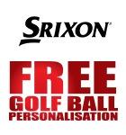 Srixon ball personalisation £19.99