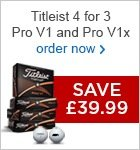 Titleist 4 for 3 - save £39.99