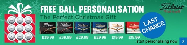 Free Titleist ball personalisation - from £15.99