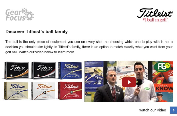 Discover Titleist's ball family